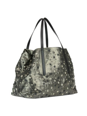 Jimmy Choo: totes bags online - Pimlico glitter leather tote