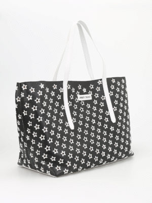 Jimmy Choo: totes bags online - Pimlico perforated stars tote