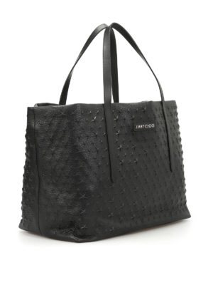 Jimmy Choo: totes bags online - Pimlico star embossed leather tote