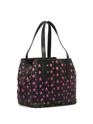 Jimmy Choo: totes bags online - Sofia S tote with fuchsia stars