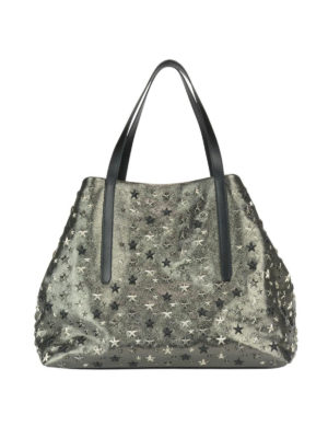 Jimmy Choo: totes bags - Pimlico glitter leather tote