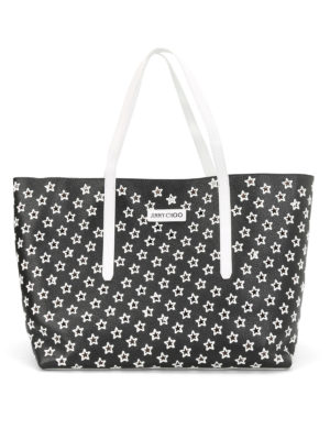 Jimmy Choo: totes bags - Pimlico perforated stars tote