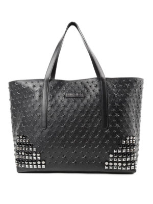 Jimmy Choo: totes bags - Pimlico Rock embossed stars tote