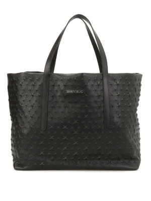 Jimmy Choo: totes bags - Pimlico star embossed leather tote