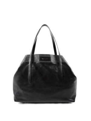 Jimmy Choo: totes bags - Pimlico stud detailed leather tote
