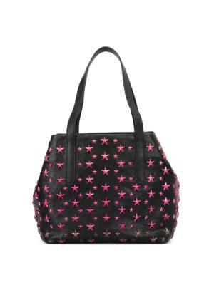 Jimmy Choo: totes bags - Sofia S tote with fuchsia stars