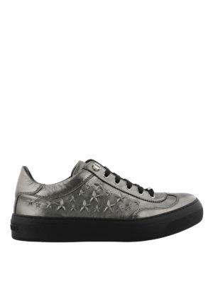JIMMY CHOO: sneakers - Sneaker Ace metallizzate con stelle