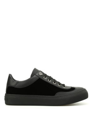 Jimmy Choo: trainers - Ace leather and velvet sneakers