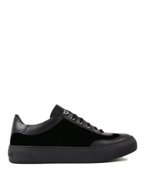 Jimmy Choo: trainers - Ace velvet and leather sneakers