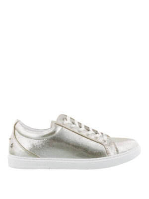 JIMMY CHOO: sneakers - Sneaker Cash color champagne