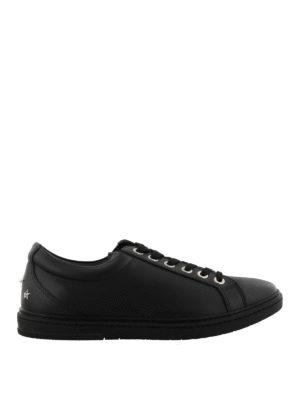 JIMMY CHOO: sneakers - Sneaker Cash nere in pelle liscia