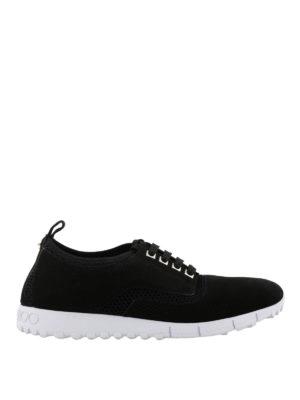 JIMMY CHOO: sneakers - Sneaker Jenson in suede e rete
