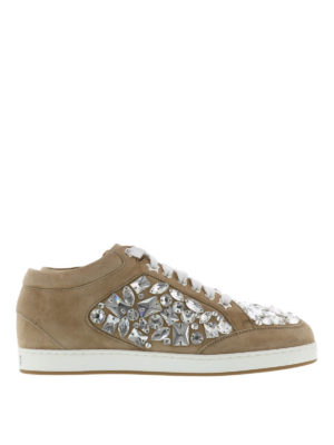 Jimmy Choo: trainers - Miami crystal detail suede sneakers