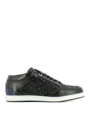 Jimmy Choo: trainers - Miami glitter and leather sneakers