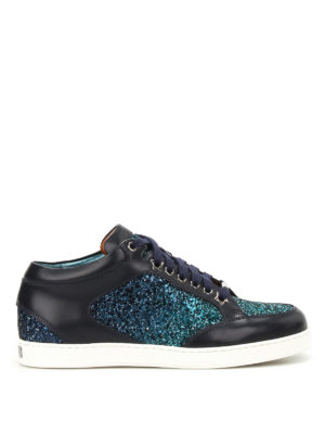 Jimmy Choo: trainers - Miami leather and glitter sneakers