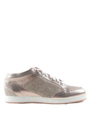 Jimmy Choo: trainers - Miami metallic and glitter sneakers