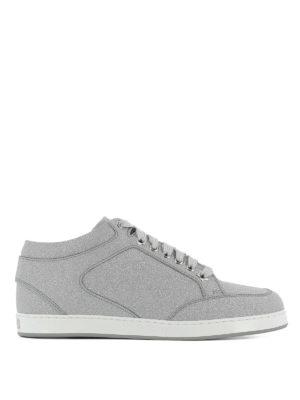 JIMMY CHOO: sneakers - Sneaker Miami in fine glitter argento