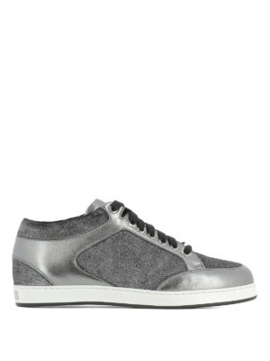 Jimmy Choo: trainers - Miami velvet and leather sneakers