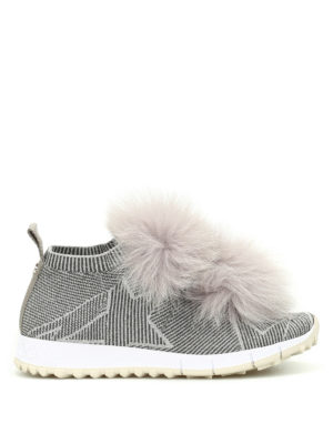 Jimmy Choo: trainers - Norway fox fur trim slip-on shoes