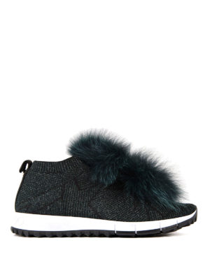 Jimmy Choo: trainers - Norway fur trim slip-on shoes