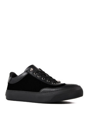 Jimmy Choo: trainers online - Ace velvet and leather sneakers