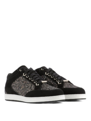 Jimmy Choo: trainers online - Miami bronze glitter sneakers
