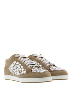 Jimmy Choo: trainers online - Miami crystal detail suede sneakers