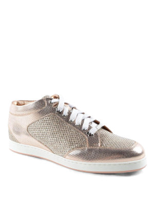 Jimmy Choo: trainers online - Miami metallic and glitter sneakers