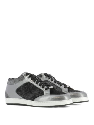 Jimmy Choo: trainers online - Miami velvet and leather sneakers