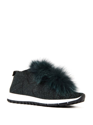 Jimmy Choo: trainers online - Norway fur trim slip-on shoes