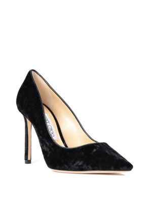 Jimmy Choo: trainers online - Pointed black suede pumps