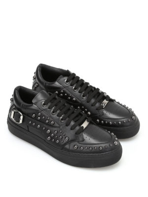 Jimmy Choo: trainers online - Roman studded leather sneakers