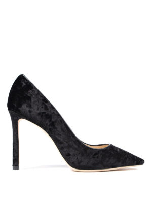 Jimmy Choo: trainers - Pointed black suede pumps