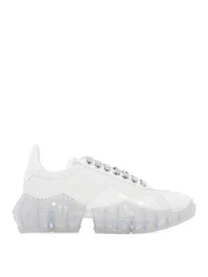 JIMMY CHOO: trainers - White Diamond chunky sneakers