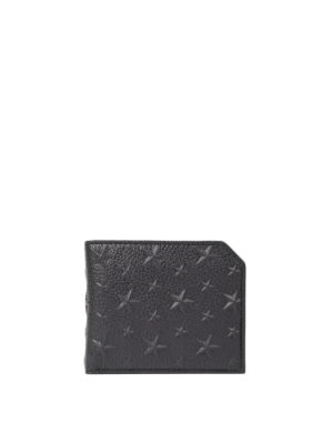 Jimmy Choo: wallets & purses - Albany embossed stars black wallet