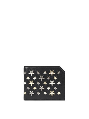 Jimmy Choo: wallets & purses - Albany studded stars leather wallet