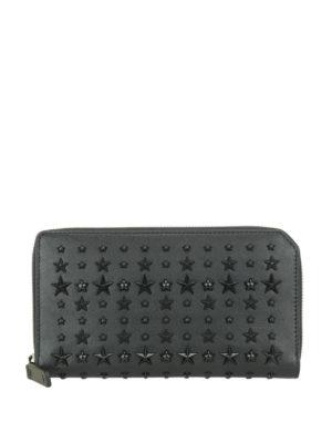 Jimmy Choo: wallets & purses - Carnaby black stars leather wallet