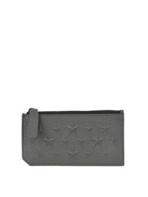 a4ae5bd766 JIMMY CHOO: portafogli - Portacarte Casey in pelle con borchie
