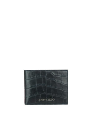 Jimmy Choo: wallets & purses - Mark croco print leather wallet