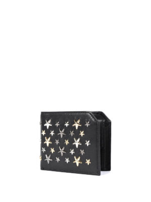 Jimmy Choo: wallets & purses online - Albany studded stars leather wallet