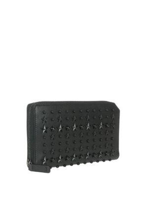 Jimmy Choo: wallets & purses online - Carnaby black stars leather wallet