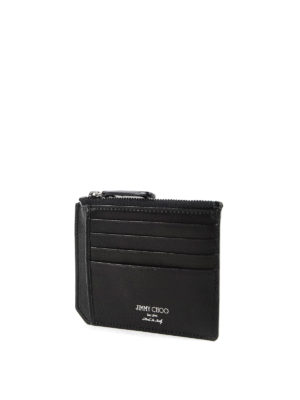 Jimmy Choo: wallets & purses online - Colby leather cardholder