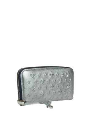 Jimmy Choo: wallets & purses online - Filipa platinum leather wallet