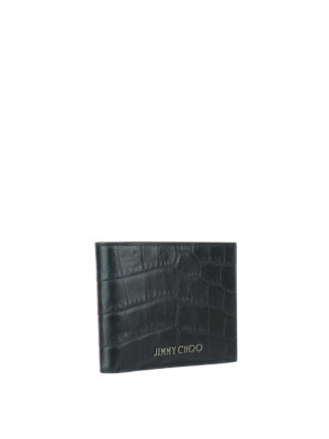 Jimmy Choo: wallets & purses online - Mark croco print leather wallet