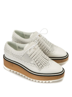 John Richmond: lace-ups shoes online - Embellished fringe leather Oxford