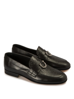 John Richmond: Loafers & Slippers online - Piercing detailed leather loafers
