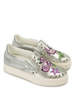 John Richmond: Loafers & Slippers online - Rock'n'roll embroidered slip-ons