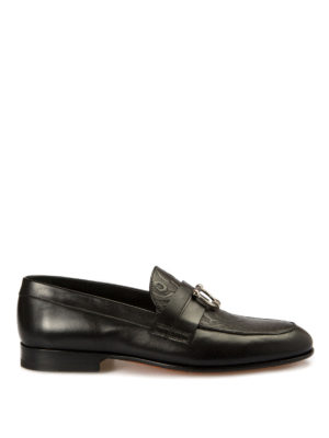 John Richmond: Loafers & Slippers - Piercing detailed leather loafers