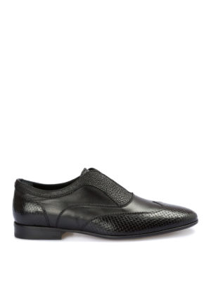 John Richmond: Loafers & Slippers - Texturized leather loafers