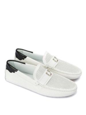 JOHN RICHMOND: Mocassini e slippers online - Mocassino driving bianco e nero
